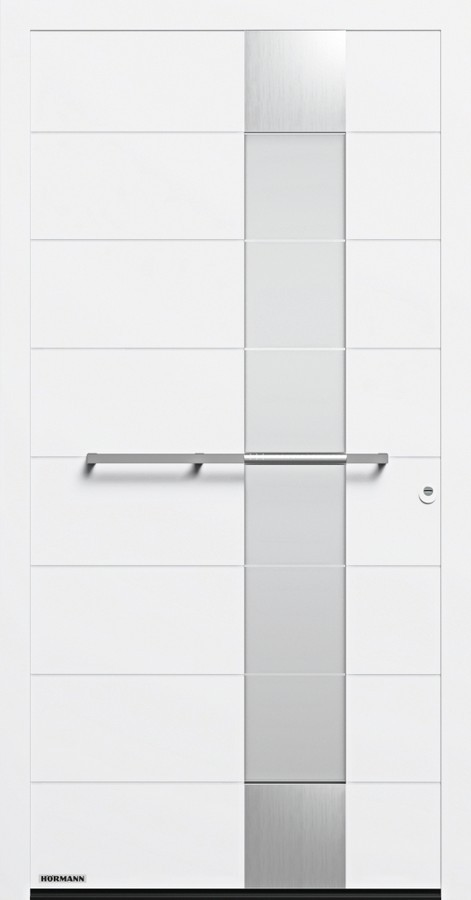 Motiv 697 Aluminium Haustur Thermosafe Mit Glasausschnitt Hormann