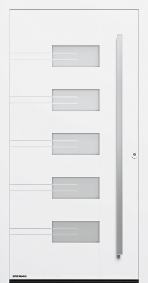 Motiv 757 Aluminium Haustur Thermosafe Mit Glasausschnitt Hormann