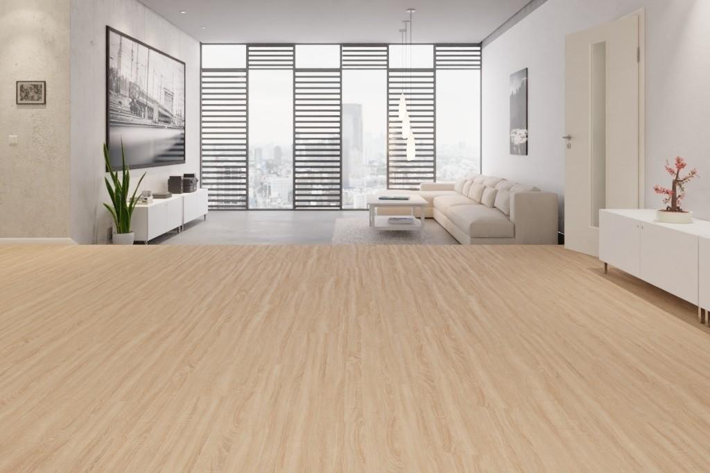 Venero Eiche Beige vinyl wineo 600 wood - wineo Milieu Penthouse