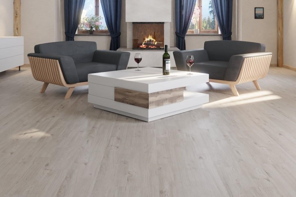 Winter Eiche Grau 2-Stab Laminat Superior Standard D5262  - Swiss Krono Milieu Blockhaus