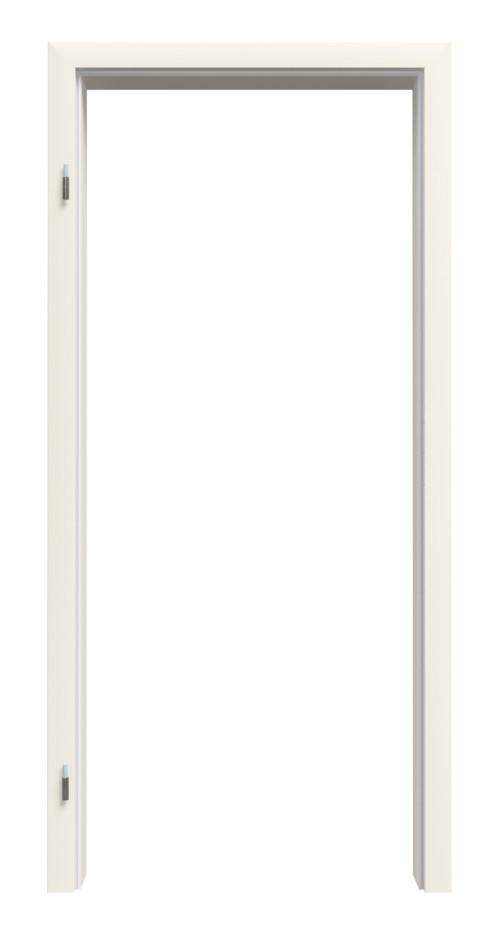 Zarge für Wohnungseingangstüren Weißlack RAL 9010 Premium ZA-14 mit eckiger Kante