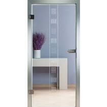 Safe Glastür Piktura Loft - Rillenschliffdesign