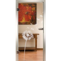 Blowball II Glastür Piktura Loft - Sandstrahldesign