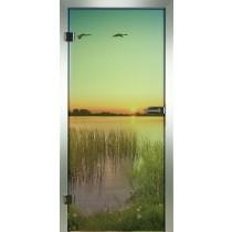 Weiher Glastür Piktura Loft - Farbdrucktür