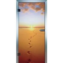 Footsteps Glastür Piktura Loft - Farbdrucktür