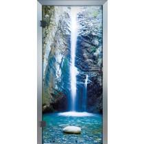 Waterfall Glastür Piktura Loft - Farbdrucktür