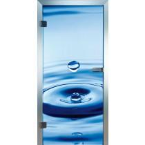 Deep Blue Glastür Piktura Loft - Farbdrucktür