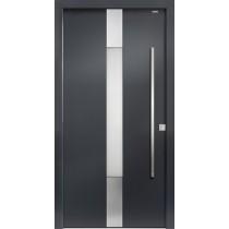 94020 Applikation Aluminium Haustür mit Glasausschnitt - Bayerwald