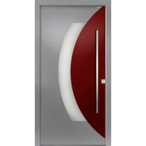 94051 Applikation Aluminium Haustür mit Glasausschnitt - Bayerwald