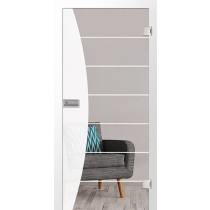 Bild von Amara Mattprint Glastür mit Motiv klar - Erkelenz