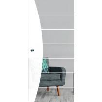Bild von Amara Mattprint Schiebetür Ganzglas mit Motiv klar - Erkelenz