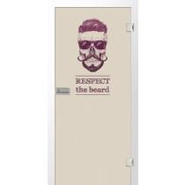 Beard Farbprint Glastür - Erkelenz