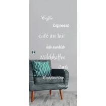 Cafe 2 Mattprint Schiebetür Ganzglas mit Motiv matt - Erkelenz