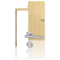 Innentür-Set Can. Ahorn Echtholz-furnierte Tür mit Zarge und Drücker