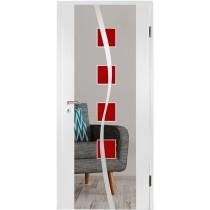 Catania rot Farbmattprint Holzglastür - Erkelenz