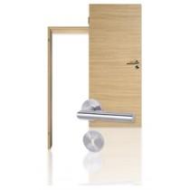 Innentür-Set Cross Eiche Roheffekt CPL Tür mit runder Zarge und Drücker