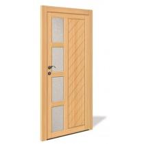 NET 1063 Holz Nebeneingangstür mit Glasausschnitt - Interio