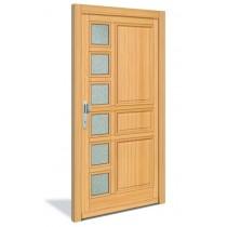 4-Sterne HT 1125 Holz Haustür mit Glasausschnitt - Interio