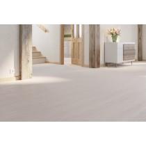 Eiche harmonisch weiß 1-Stab Landhausdielen Laminatboden Premium inkl. Trittschalldämmung Melango LD 300|20 S-6139 - Meister