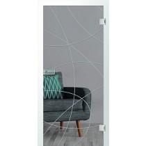 Er 14 Rillenschliff Glastür mit Fläche klar - Erkelenz