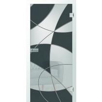 Er 14 Rillenschliff Glastür teilflächig farbmattprint - Erkelenz