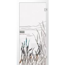 Floral 2 Mattprint Glastür mit Motiv klar - Erkelenz