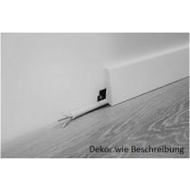 Grace Eiche Smooth Fußleisten Vinylboden (2400 x 19 x 58 mm) - wineo