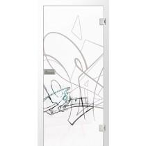 Bild von Gariffto Micromattprint Glastür mit Motiv klar - Erkelenz