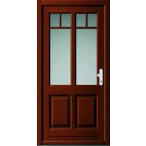 A 17 302 Holz Haustür mit Glasausschnitt - Kneer