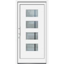 Weiße Basic Plus Kunststoff Haustür Laguna 2 Glas Samui - Brand