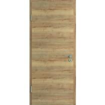 Innentür-Set Cross Eiche Vintage CPL Tür mit runder Zarge und Drücker