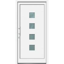Weiße Basic Kunststoff Haustür Lenwe 2 - Brand