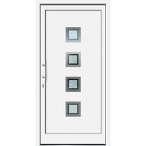 Weiße Basic Plus Kunststoff Haustür Lenwe 6E Glas Berlin - Brand