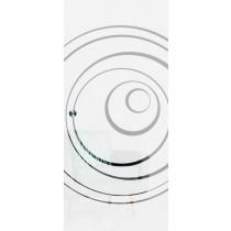Lira Mattierung Schiebetür Ganzglas mit Motiv klar - Erkelenz