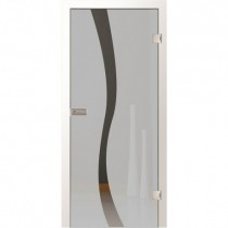 Bergamo Motiv klar Ornamentglas inkl. Beschlagset - Lenz Design