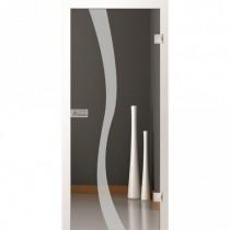 Bergamo Motiv matt Ornamentglas inkl. Beschlagset - Lenz Design