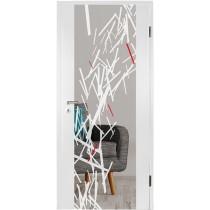 Stick Farbmattprint Holzglastür - Erkelenz
