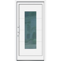 Weiße Basic Plus Kunststoff Haustür Tabit 2 Glas Mastercarre weiß - Brand