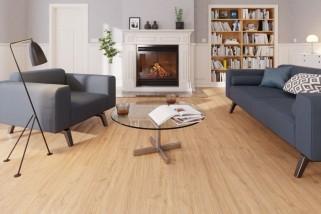 Bodenkomplettset Eiche Italia Landhausdiele Premium Laminat - Interio