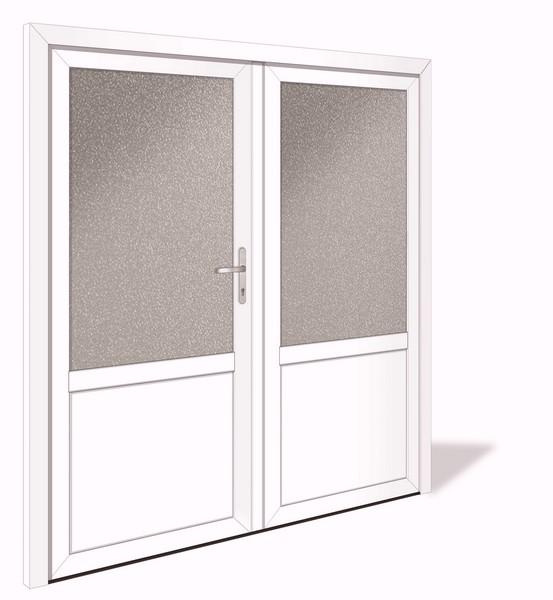 net 1041 2 aluminium doppelfl gel nebeneingangst r mit glasausschnitt interio deinet. Black Bedroom Furniture Sets. Home Design Ideas