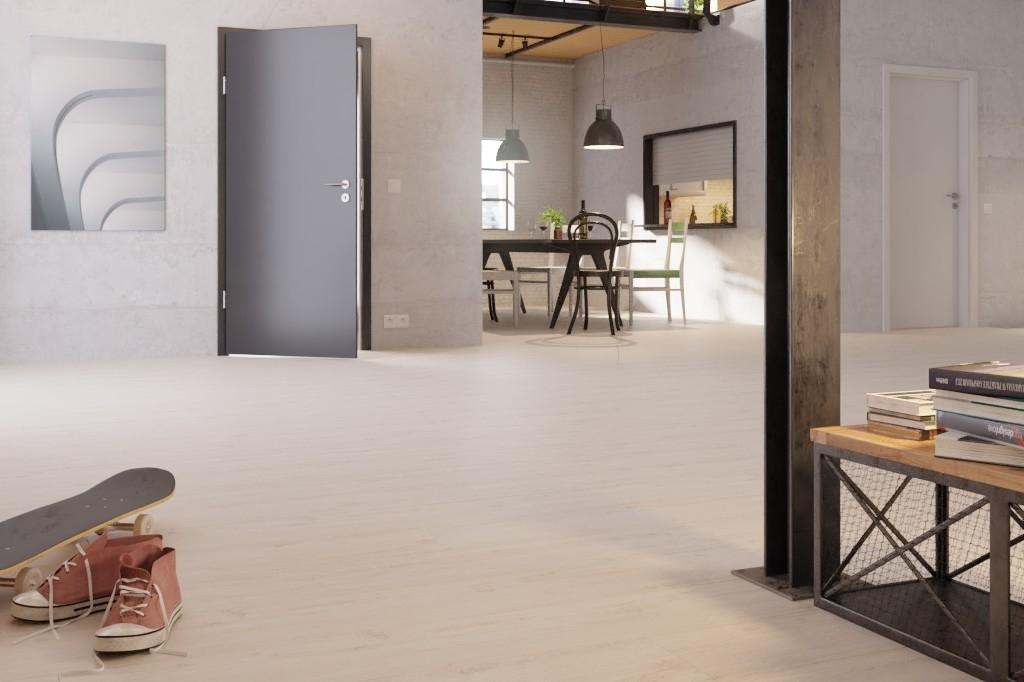 eiche wei langdiele big block laminat interio deinet. Black Bedroom Furniture Sets. Home Design Ideas