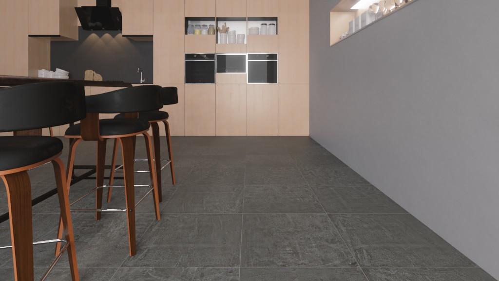 Bodenfliesen Anthrazit Matt New Concrete 60 x 60 cm Feinsteinzeug - Interio