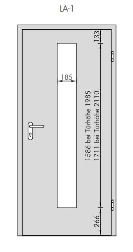 Extrem Lackweiß RAL 9010 Typ LA-1 mittig Innentür - Westag & Getalit PK83