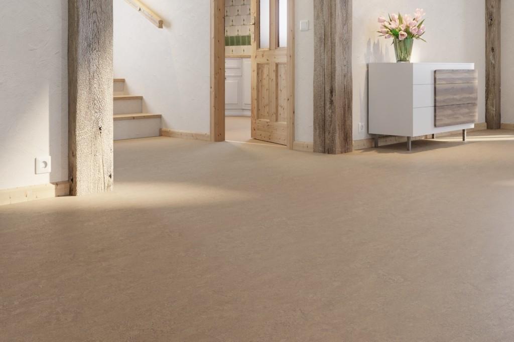 Fußboden Aus Linoleum ~ Goldbraun linoleum boden premium inkl trittschalldämmung puro lid
