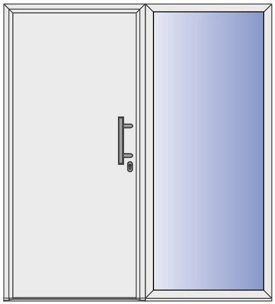 seitenteil f r stahl aluminium haust ren thermo65 aktion h rmann deinet. Black Bedroom Furniture Sets. Home Design Ideas