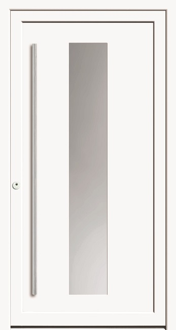 a 18 106 kunststoff haust r mit glasausschnitt kneer deinet. Black Bedroom Furniture Sets. Home Design Ideas