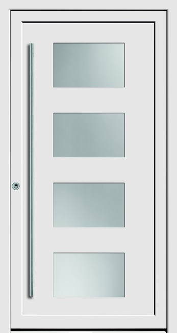 a 18 115 kunststoff haust r mit glasausschnitt kneer deinet. Black Bedroom Furniture Sets. Home Design Ideas