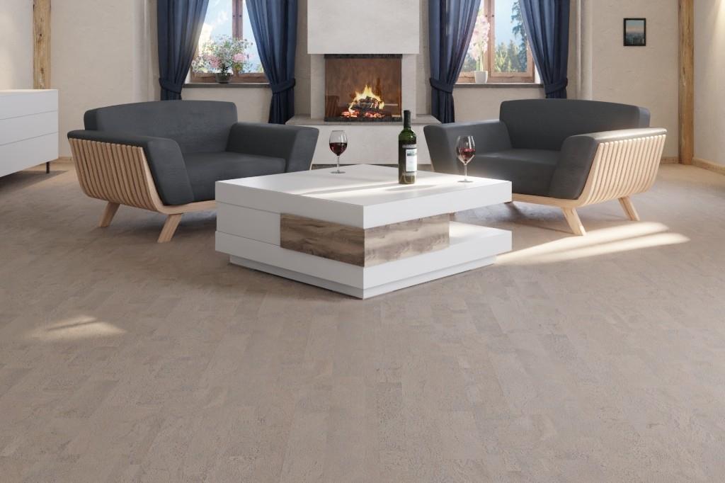 kork neuwerk grau fliese korkboden sch ner wohnen wicanders deinet. Black Bedroom Furniture Sets. Home Design Ideas