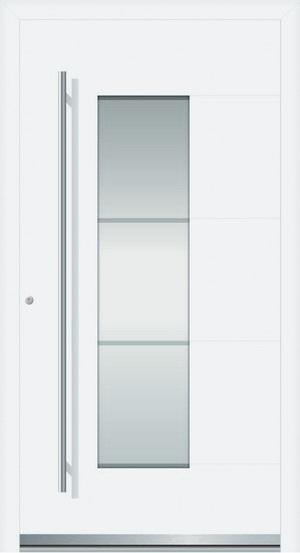 lilly aluminium haust r mit glasausschnitt interio deinet. Black Bedroom Furniture Sets. Home Design Ideas