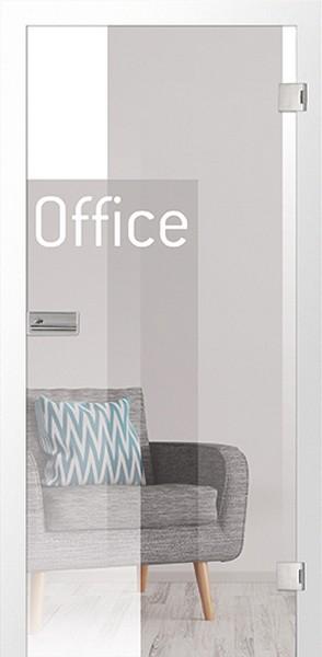 Bauelement Office 1 Micromattierung Glastür mit...